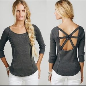 Free People Open Back Ribbed Thermal